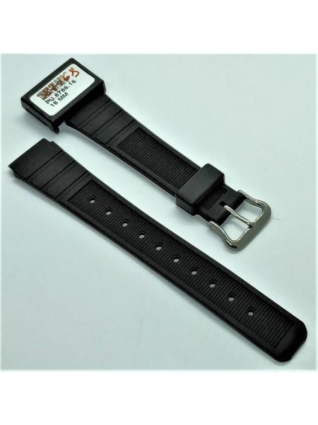 Ремешок для часов из каучука Condor PU.8786.16 16 мм Черный (387168)