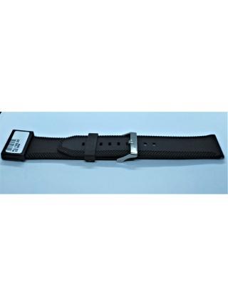 Ремешок для часов из каучука Condor PU.105.22 22 мм Черный (333047)