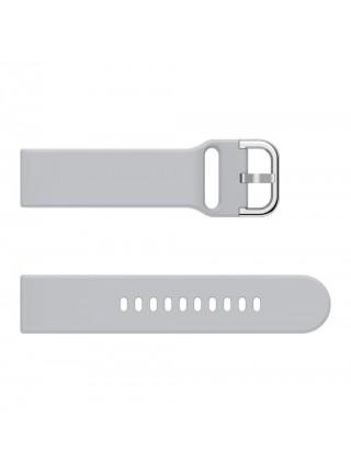 Ремешок силиконовый  BeWatch New шириной 20мм универсальный Серый (1012304)