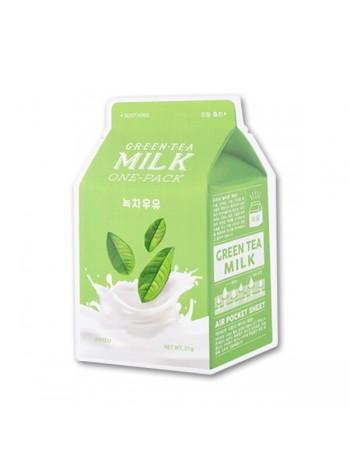 Тканевая маска с чаем и молоком A'Pieu Green Tea Milk One-Pack (8806185780278)