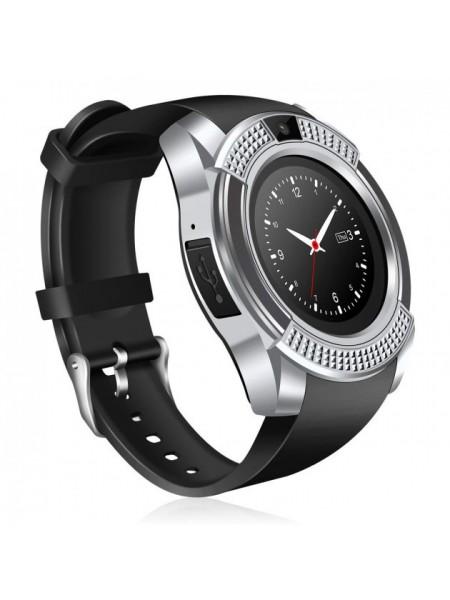 Часы Smart Watch Phone V8 Серебристые с черным (459-01)