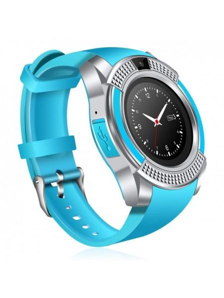 Часы Smart Watch Phone V8 Голубые (462-01)
