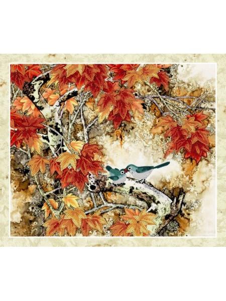 Набор для вышивки бисером Идейка Птица на ветке (26371)