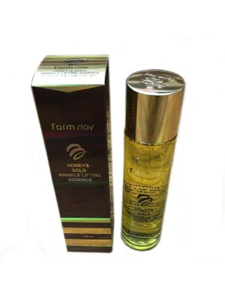 Эссенция с экстрактом золота и меда Farmstay Honey & Gold Wrinkle Lifting Essence 130 мл (8809426954957)