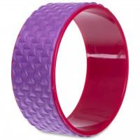 Колесо-кольцо для йоги массажное FI-2437 Fit Wheel Yoga EVA, PP, р-р 33х14см, фиолетовый(AN0738)
