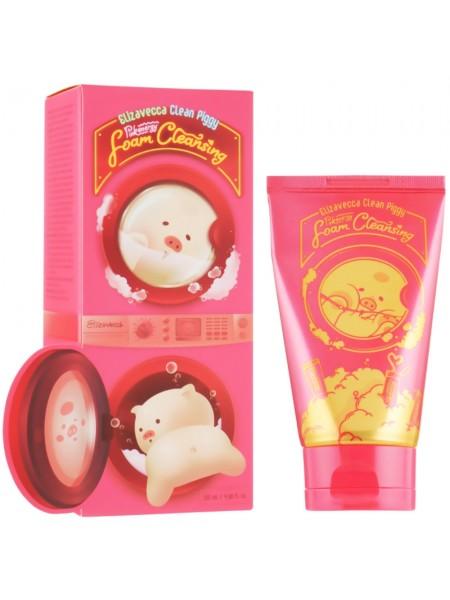 Ягодная пенка для умывания Elizavecca Clean Piggy Pink Energy Foam Cleansing 120 мл (8809624504152)