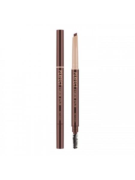 Автоматический карандаш для бровей Missha Perfect Eyebrow Styler - Red Brown 0,35 г (8806185749992)