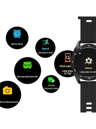 Часы фитнес-трекер UWatch Smart Watch X10 Fitness с пульсометром Черный