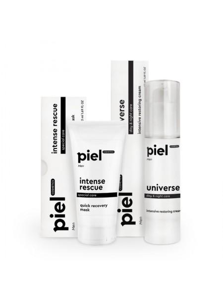Інтенсивний комплекс для догляду за чоловічою шкірою Piel Cosmetics 2 шт