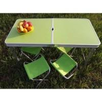 Раскладной cтол чемодан для пикника SunRise усиленный с 4 стульями