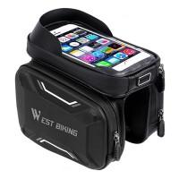 Велосипедная сумка на раму West Biking Smart 0707213 Черный с серым (4956-15096)