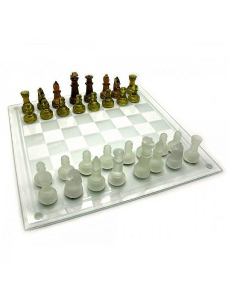 Шахматы стеклянные янтарные Viktoria trading (43484)