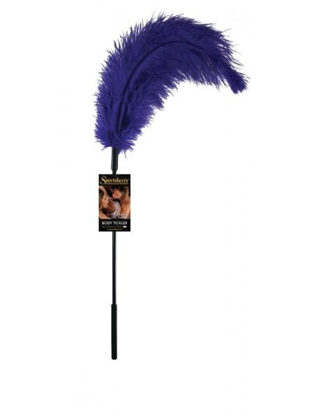Щекоталка с пером страуса Sportsheets Ostrich Tickler Фиолетовая (SO1299)