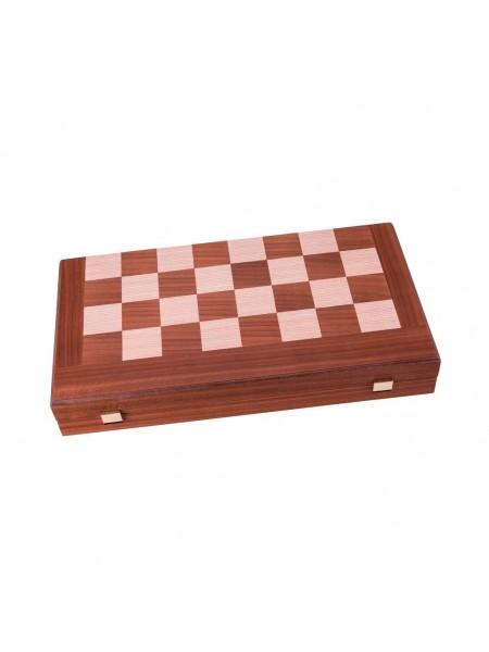 Шахматы, шашки и нарды Manopoulos, шашки дерево 32х30см Цвет доски махагон (TS3MBLA)