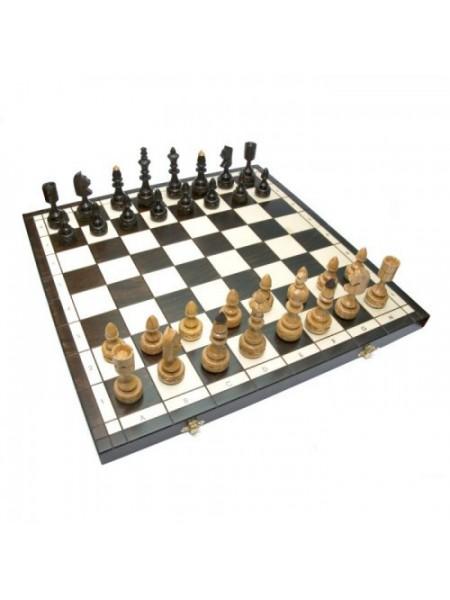 Шахматы оригинальные резные дерево Индийские с вкладкой Madon Indyjskie с-123 с чехлом сумкой (11r_c-123)