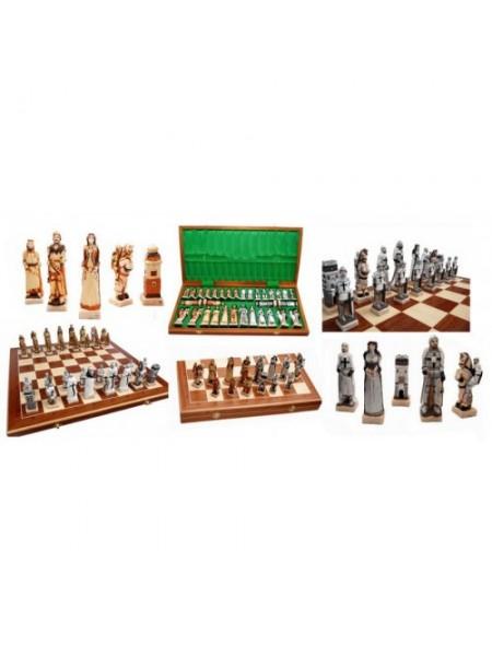 Шахматы оригинальные полистоун Грюнвальд Madon Grunwald с-160 с чехлом сумкой (11r_c-160)