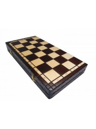 Шахматы ручная работа дерево Королевские большие Madon Krolewskie duze с-111 с чехлом сумкой (11r_c-111)