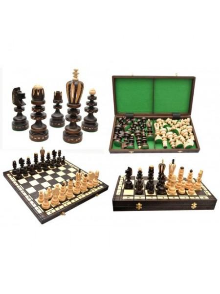 Шахматы подарочные резные ручной работы дерево Римские Madon Roman с-131 с сумкой чехлом (11r_c-131)