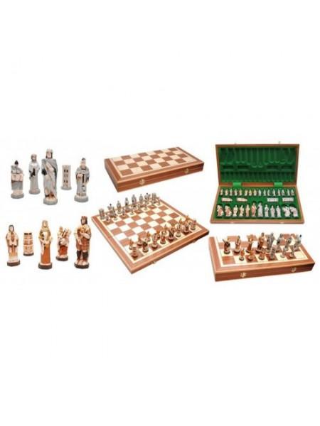 Шахматы подарочные большого размера полистоун 56 х 56 см интарсия Англия Madon Anglia с-158 с чехлом сумкой