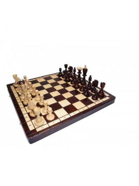 Шахматы среднего размера ручная работа дерево Асы Madon Asy с-115 с чехлом сумкой (11r_c-115)