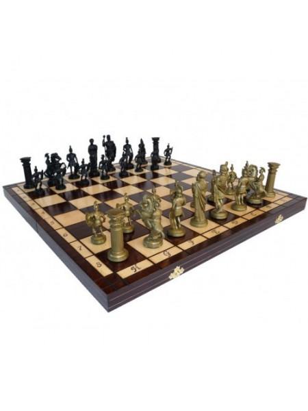 Шахматы оригинальные пластик Спартанские Madon Spartan с-139 с чехлом сумкой (11r_c-139)