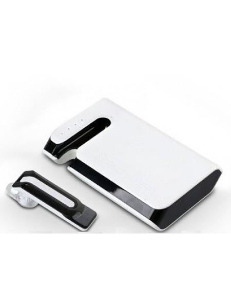 Беспроводной Bluetooth наушник Power Bank Blue Point B16 2 в 1 7800 mAh  Черно-белый (SUN0151)