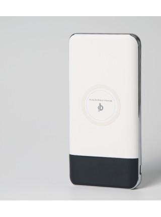 Универсальное зарядное устройство SUNROZ QI Power Bank с беспроводной зарядкой10000 mAh Белый (SUN0155)