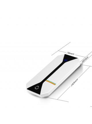 Универсальное зарядное устройство SOSLPAI CB1W002 Портативный повер банк с LCD дисплеем 10000mAhБелый(SUN0235)