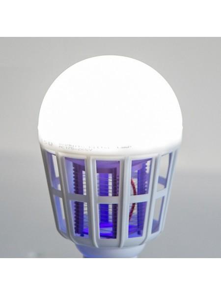 Уничтожитель насекомых SUNROZ Энергосберегающая антимоскитная лампочка 2 в 1, E27, 15W    (SUN0327)