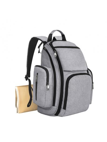 Сумка-рюкзак SUNROZ Mummy Bag мультифункциональный органайзер для мамы Серый (SUN0628)