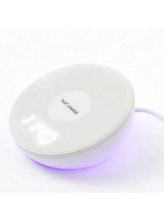 Беспроводное зарядное устройство SUNROZ QI Charger Nightlight с технологией QI и ночником 3 в 1  10W (SUN1223)