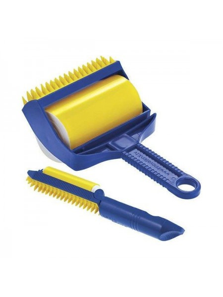 Силиконовый липкий валик SUNROZ Sticky Buddy для чистки одежды и уборки дома Сине-Желтый (SUN1324)