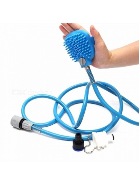 Перчатка для мойки животных SUNROZ Pet Bathing Tool щетка-душ для собак Синий (SUN1503)