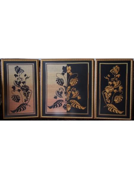 Картина триптих «Мудрость», «Золотая середина», «Истина» вышитая крестом ручной работы