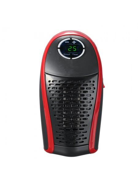 Портативный электрический обогреватель SUNROZ Wonder Warm тепловентилятор с пультом ДУ 400Вт Черный (SUN2579)