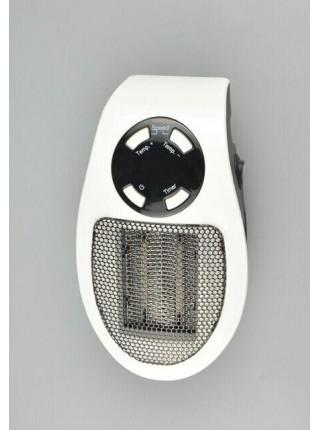 Портативный электрический обогреватель SUNROZ PLUGGABLE Mini Heater Fan тепловентилятор 500Вт Белый (SUN2611)