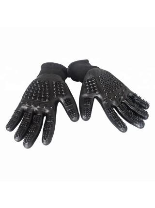 Перчатка SUNROZ для вычесывания шерсти домашних животных Черный (SUN2612)
