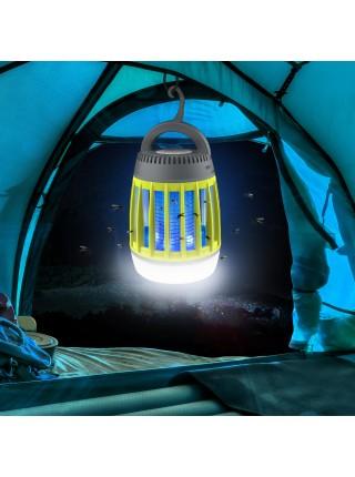 Фонарь для кемпинга SUNROZ Electronic Mosquito Killer Lamp уничтожитель комаров 3 в 1 Серо-Желтый (SUN4557)