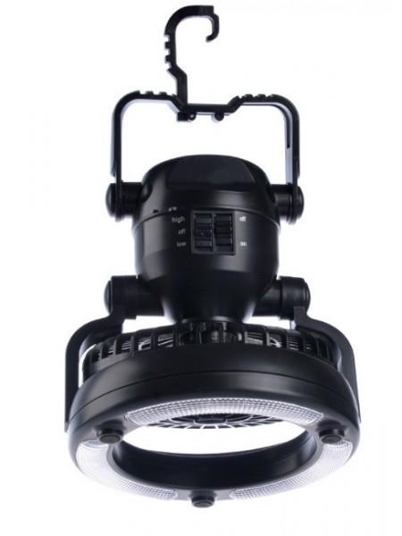 Фонарь с вентилятором SUNROZ LED Happy Camper для кемпинга 2 в 1 Черный (SUN4583)