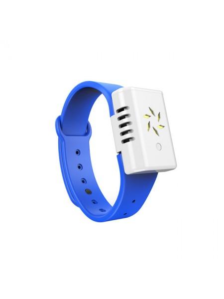 Электронный антимоскитными браслет SUNROZ Ultrasonic Mosquito Repellent Голубой (SUN4595)