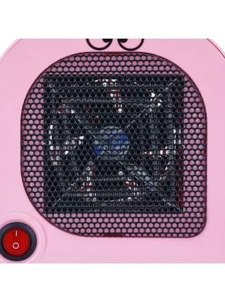Портативный электрический обогреватель SUNROZ Cartoon Fan Heater тепловентилятор 400Вт Розовый (SUN5584)