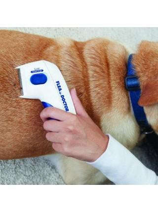 Электрический расческа для удаления блох BulbHead Flea Doctor домашних животных Белый (SUN5608)