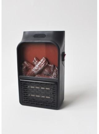 Портативный электрический обогреватель SUNROZ Flame Heater тепловентилятор с имитацией камина 900Вт Черный
