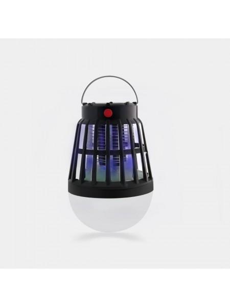 Фонарь для кемпинга SUNROZ Travel Light уничтожитель комаров 2 в 1 с солнечной батареей Черный (SUN7269)