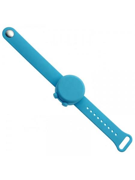 Силиконовый браслет-диспенсер SUNROZ Anti Bacterial Bracelet для гелевого антисептика Голубой (SUN7797)