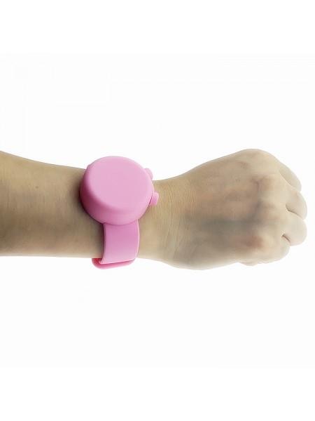 Силиконовый браслет-диспенсер SUNROZ Anti Bacterial Bracelet для гелевого антисептика Розовый (SUN7798)