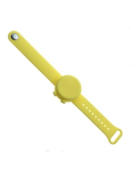 Силиконовый браслет-диспенсер SUNROZ Anti Bacterial Bracelet для гелевого антисептика Желтый (SUN7800)