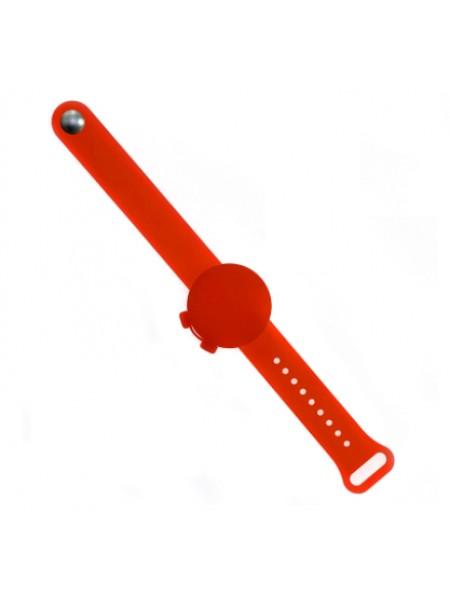 Силиконовый браслет-диспенсер SUNROZ Anti Bacterial Bracelet для гелевого антисептика Красный (SUN7801)