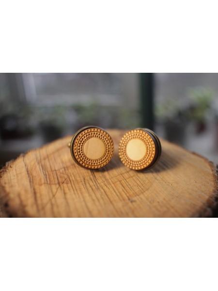 Деревянные запонки № 3 ручной работы