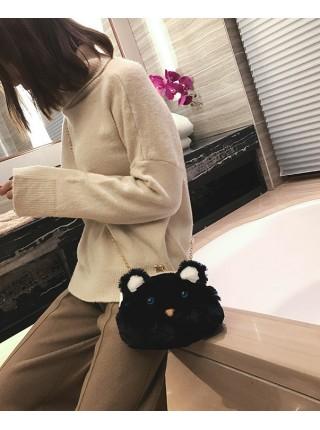 Черная сумка-клатч Мышонок